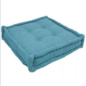 "Blazing Needles Square Corded Floor Pillow25""Aqua"